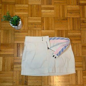 Preppy American Eagle White Button Skirt